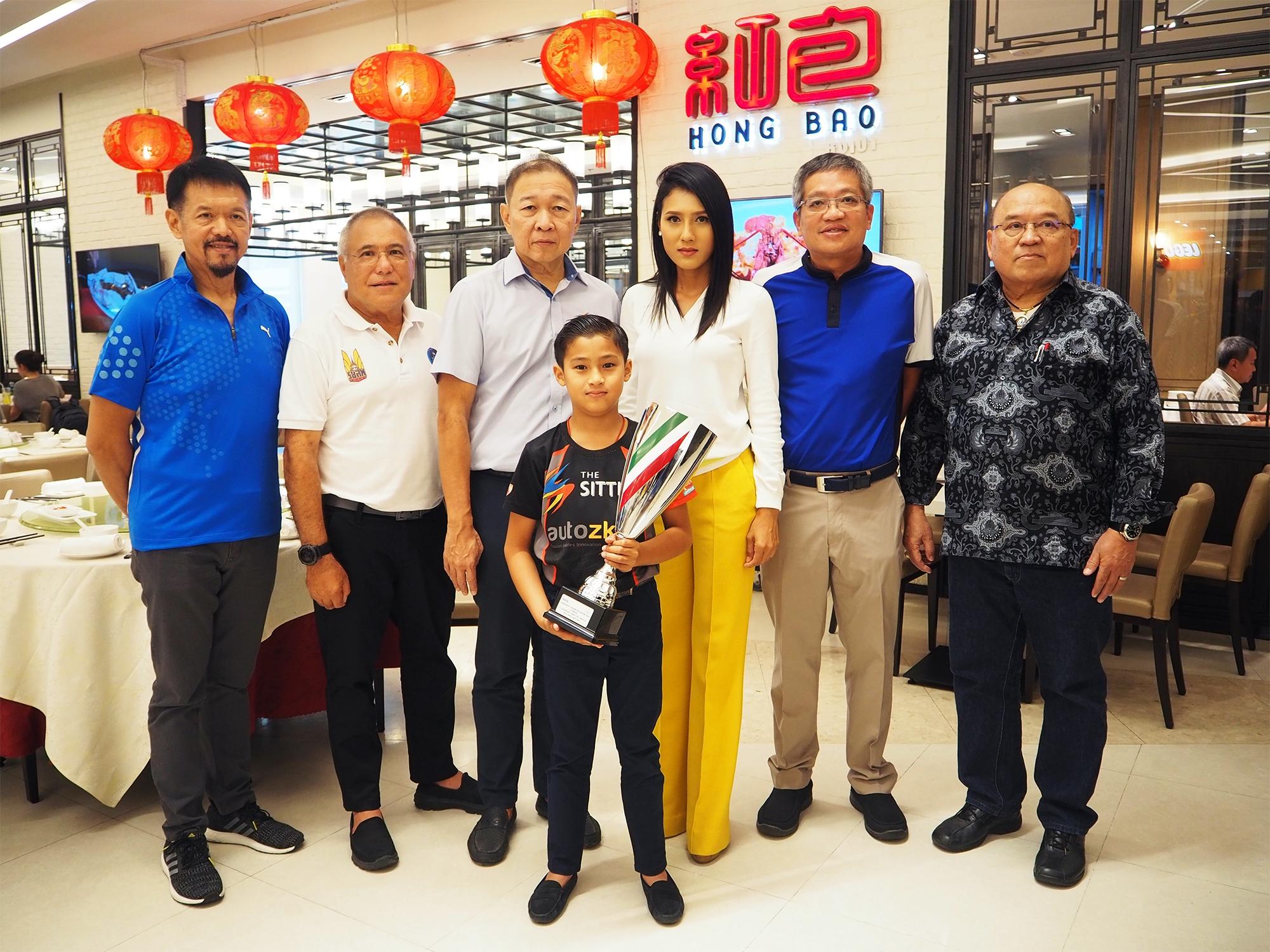 """กลุ่มสิทธิผล จัดงานเลี้ยงแสดงความยินดีให้ """"เอ็นโซ่""""  นักแข่งคาร์ทเยาวชนชาวไทย"""
