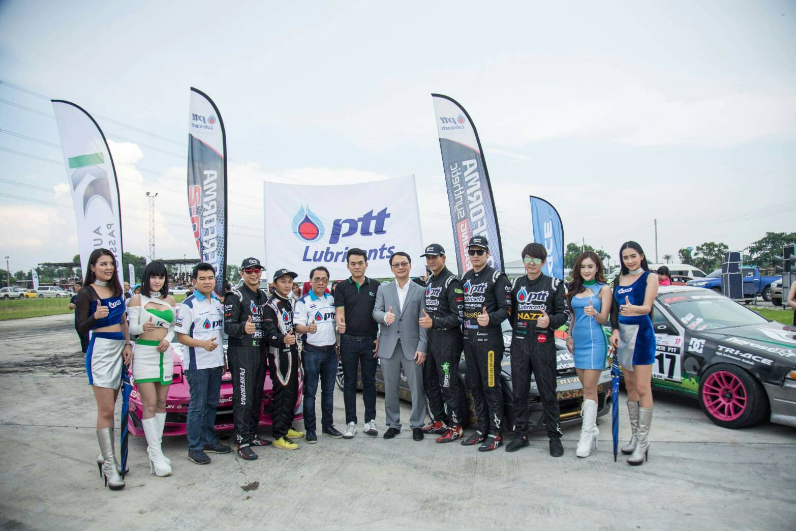 KC GROUP หนุนยาง TRI-ACE RACING KING  PTT PERFORMA DRIFT TEAM