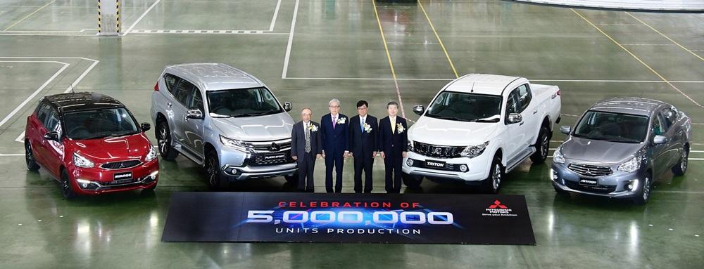 """โรงงาน """"มิตซูบิชิ"""" ไทยผลิตรถคันที่ 5 ล้าน"""